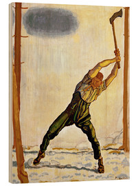Wood print  The Woodcutter - Ferdinand Hodler