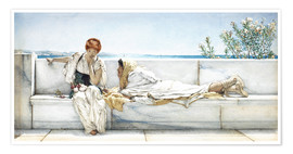 Premium poster  A Question - Lawrence Alma-Tadema