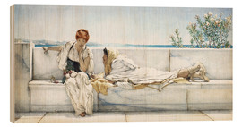 Wood print  A Question - Lawrence Alma-Tadema