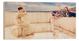 Wood print  Expectations - Lawrence Alma-Tadema