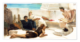 Premium poster  A reading from Homer - Lawrence Alma-Tadema