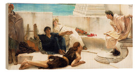 Wood print  A reading from Homer - Lawrence Alma-Tadema