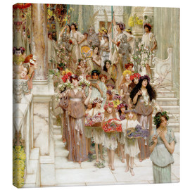 Canvas print  Spring (detail) - Lawrence Alma-Tadema