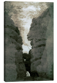 Canvas print  Rock gate Uttenwalder Grund - Caspar David Friedrich