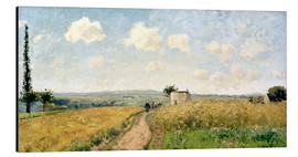 Aluminium print  June Morning near Pontoise - Camille Pissarro