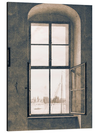 Aluminium print  View from the studio - Caspar David Friedrich