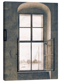 Canvas print  View from the studio - Caspar David Friedrich