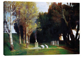 Canvas print  The Sacred Grove - Arnold Böcklin