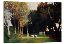 Wood print  The Sacred Grove - Arnold Böcklin