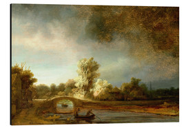 Aluminium print  The Stone Bridge - Rembrandt van Rijn