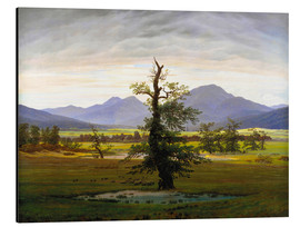 Aluminium print  The lonesome tree - Caspar David Friedrich