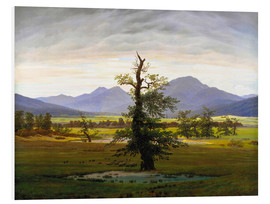 Foam board print  The lonesome tree - Caspar David Friedrich
