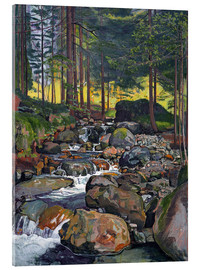 Acrylic print  Forest with Mountain Brook - Ferdinand Hodler
