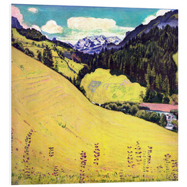 Foam board print  View of the Blüemlisalp - Ferdinand Hodler