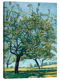 Canvas  Paddock with apple trees - Ferdinand Hodler