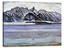 Canvas print  Stockhorn Range in Winter - Ferdinand Hodler