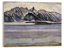 Wood print  Stockhorn Range in Winter - Ferdinand Hodler