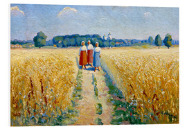 Foam board print  Three women on a path - Kasimir Sewerinowitsch  Malewitsch