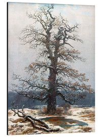 Aluminium print  Oak Tree in Snow - Caspar David Friedrich