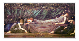 Premium poster  Briar Rose - The Rose Bower - Edward Burne-Jones