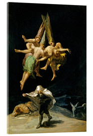 Acrylic print  Witches' flight - Francisco José de Goya