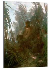 Aluminium print  Pan in the Reeds - Arnold Böcklin
