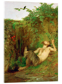 Acrylic print  Faun and blackbird - Arnold Böcklin