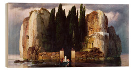 Wood print  The Isle of the Dead - Arnold Böcklin