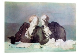 Acrylic print  The Decisive Argument - Honoré Daumier