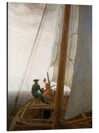 Alu-Dibond  On the Sailing ship - Caspar David Friedrich