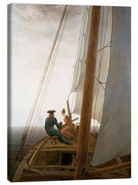Canvas print  On the Sailing ship - Caspar David Friedrich