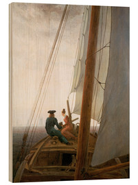 Wood print  On the Sailing ship - Caspar David Friedrich