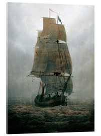 Acrylic print  Sailing ship in the fog - Caspar David Friedrich