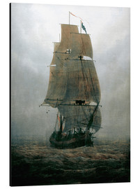 Alu-Dibond  Sailing ship in the fog - Caspar David Friedrich