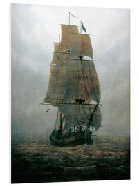 Foam board print  Sailing ship in the fog - Caspar David Friedrich