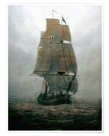 Premium poster  Sailing ship in the fog - Caspar David Friedrich