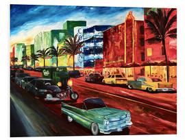 Forex  Miami Ocean Drive with mint Cadillac - M. Bleichner