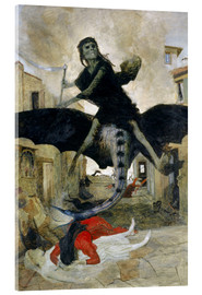 Acrylic glass  The Plague - Arnold Böcklin