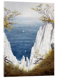 Acrylic print  Chalk cliffs on Rugen island - Caspar David Friedrich