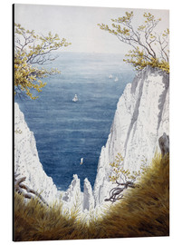 Aluminium print  Chalk cliffs on Rugen island - Caspar David Friedrich