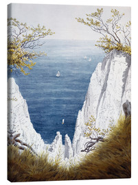 Canvas print  Chalk cliffs on Rugen island - Caspar David Friedrich