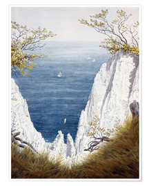 Premium poster  Chalk cliffs on Rugen island - Caspar David Friedrich