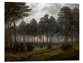 Foam board print  Evening - Caspar David Friedrich