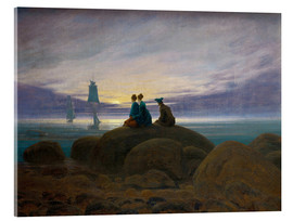 Acrylic print  Moonrise by the Sea - Caspar David Friedrich