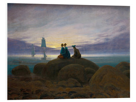 Foam board print  Moonrise by the Sea - Caspar David Friedrich