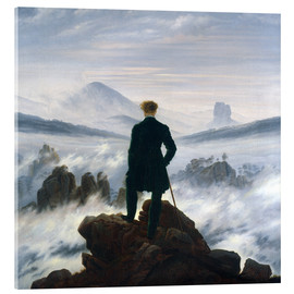 Acrylic print  The Wanderer Above the Sea of Fog - Caspar David Friedrich