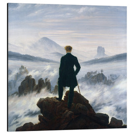 Aluminium print  The Wanderer Above the Sea of Fog - Caspar David Friedrich