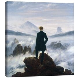 Canvas print  The Wanderer Above the Sea of Fog - Caspar David Friedrich
