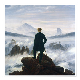 Poster  The Wanderer Above the Sea of Fog - Caspar David Friedrich
