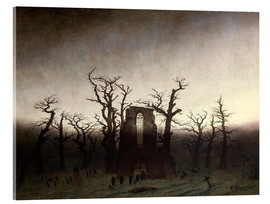 Acrylic glass  The Abbey in the Oakwood - Caspar David Friedrich